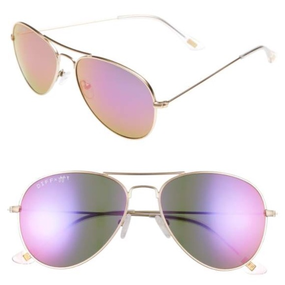57572bf4ee Diff Eyewear Accessories - DIFF x JoJo Cruz Edition 57mm Aviator Sunglasses